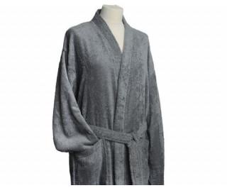 Clarysse Kimono Badstof Badjas Pearl Grijs