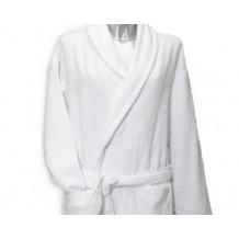 Clarysse Classic badjas met sjaalkraag Wit